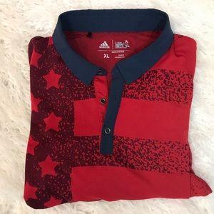 Men adidas USA golf polo shirt size xl